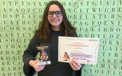 Júlia Simpson, de 4t d'ESO, guanya la fase territorial del Premi Sambori de narrativa.