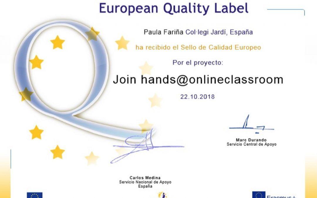 Guardonats amb el Segell de Qualitat Europeu