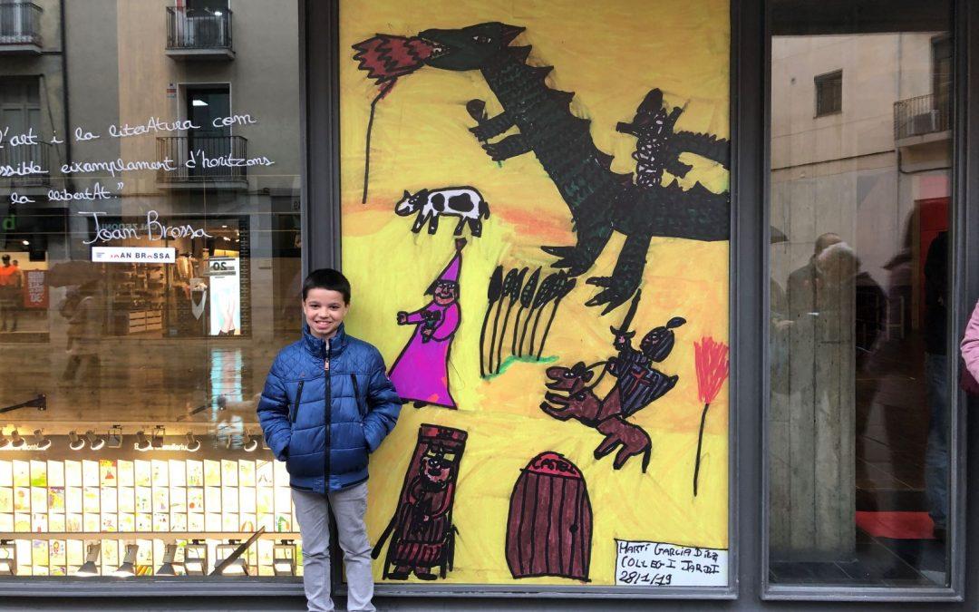 Martí García Díez, alumne de 3r de primària, guanyador del concurs de dibuix organitzat pel Museu de Granollers.