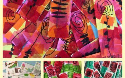 Collage d'activitats durant la diada de Sant Jordi
