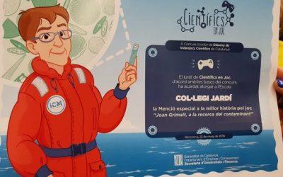 5è de primària: Menció Especial a la Millor Història en el III Concurs Escolar de Disseny de Videojocs Científics de Catalunya.