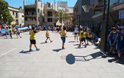 Participació dels alumnes de primària en el torneig de bàsquet 3×3 La Mútua.