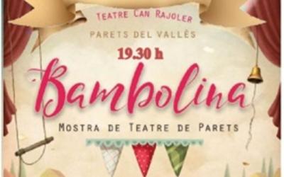"""Mostra de Teatre BAMBOLINA i lliurament de premis del Concurs de Dibuix """"CONEIXEM GRANOLLERS"""". Teatre Can Rajoler, Parets del Vallès."""