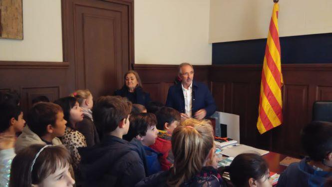 Audició de l'alcalde de Granollers als alumnes de 3r de Primària.