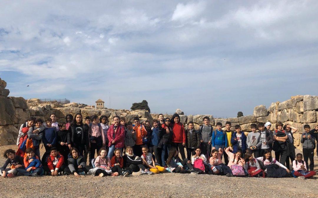 5è visita el jaciment d'Empúries i el Museu d'Arqueologia de Catalunya. Projecte VIATGE AL PASSAT: L'EDAT ANTIGA.